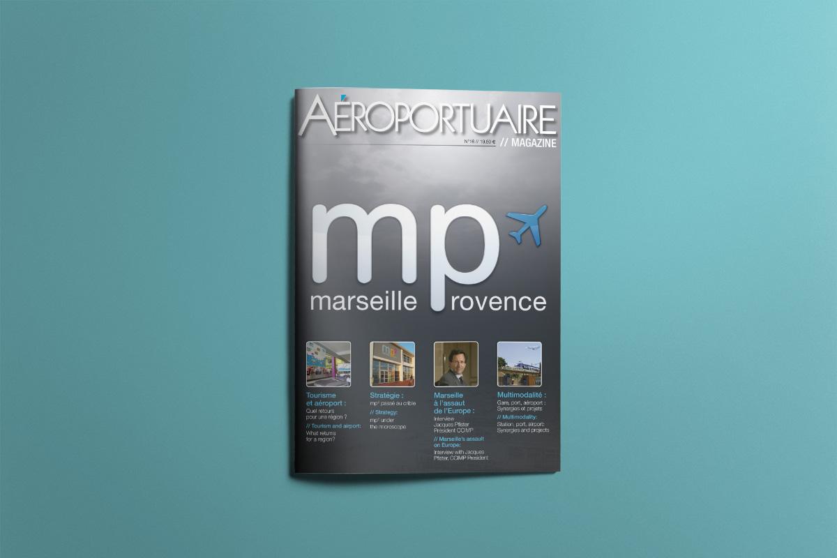 Création graphique Aéroportuaire Magazine
