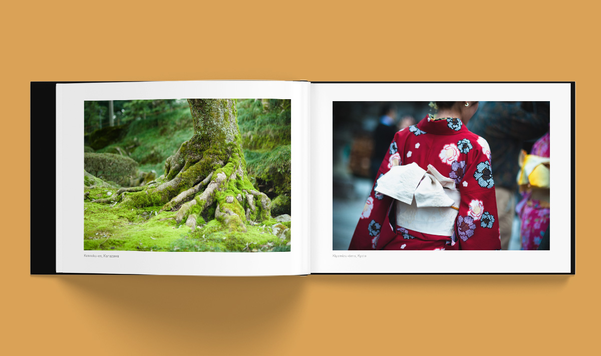 Création graphique Livre Photo Voyage au Japon