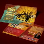 Création graphique flyer Concert EM Anouk Aïata