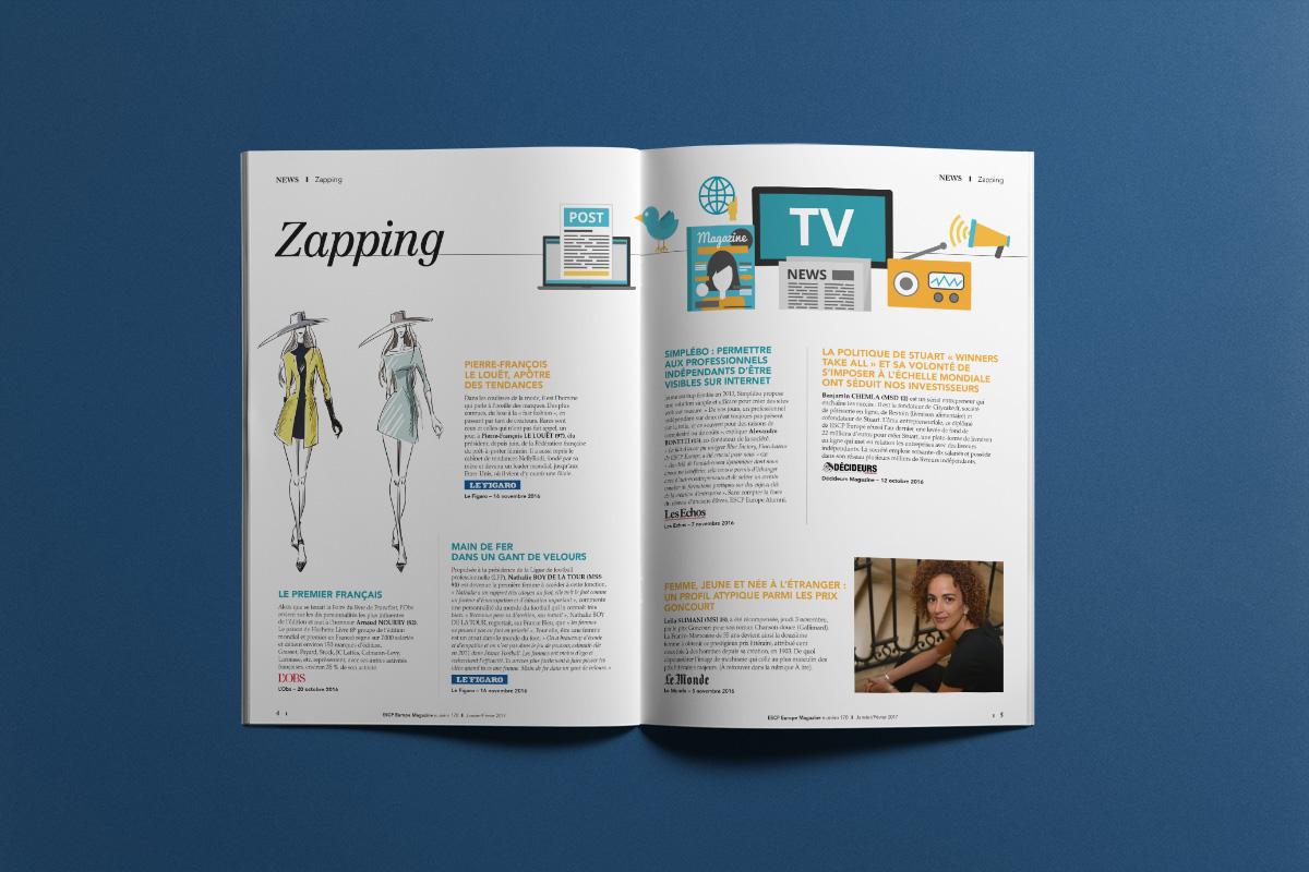 Création Graphique ESCP Europe Magazine