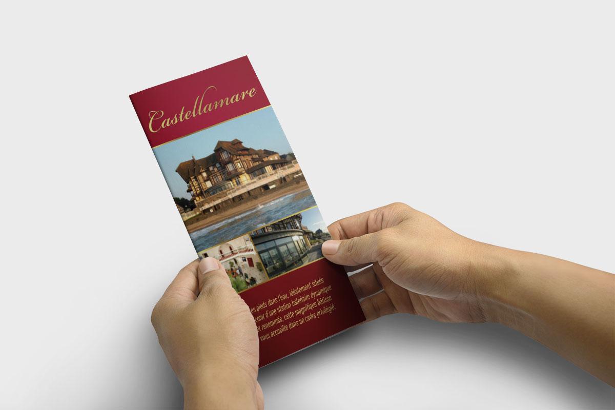 Création graphique dépliant hôtel-restaurant Castellamare