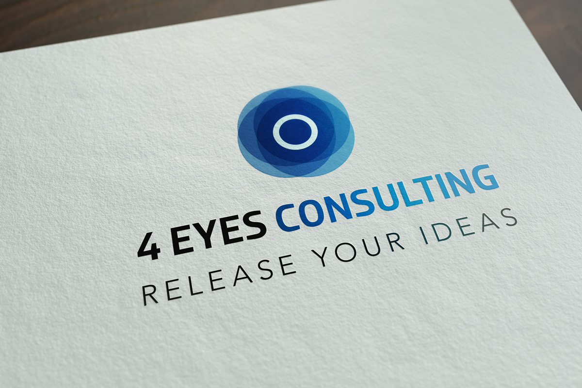 Création graphique logo 4 Eyes Consulting