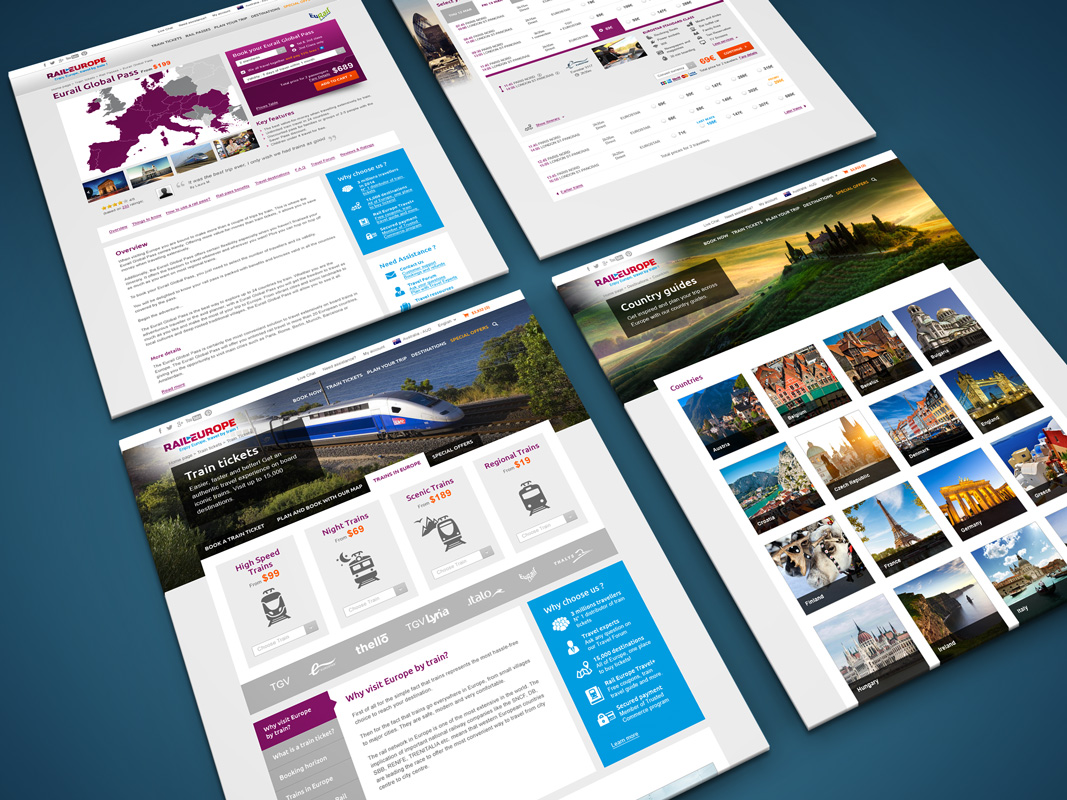 Création graphique Site internet Rail Europe