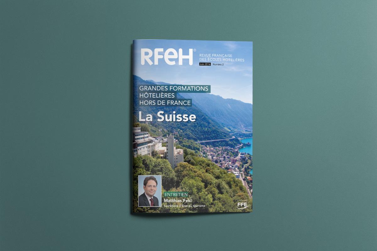 Création Graphique Revue Française des Écoles Hôtelières