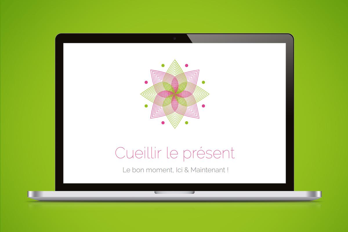 Création graphique Site internet Kalia, Cueillir le présent