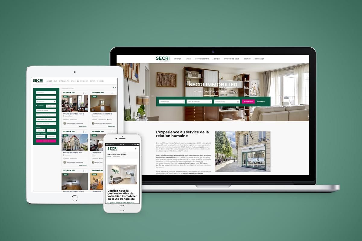 Création graphique Site internet Secri Immobilier