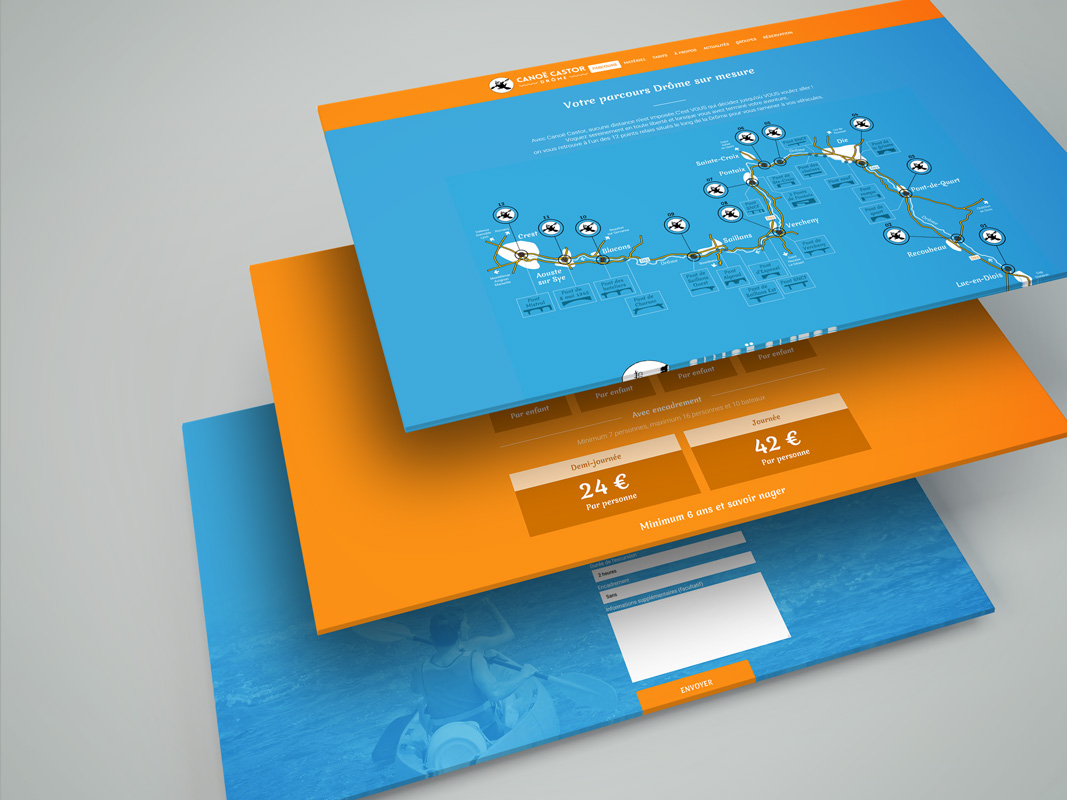 Création graphique Site internet Canoe Castor Drome