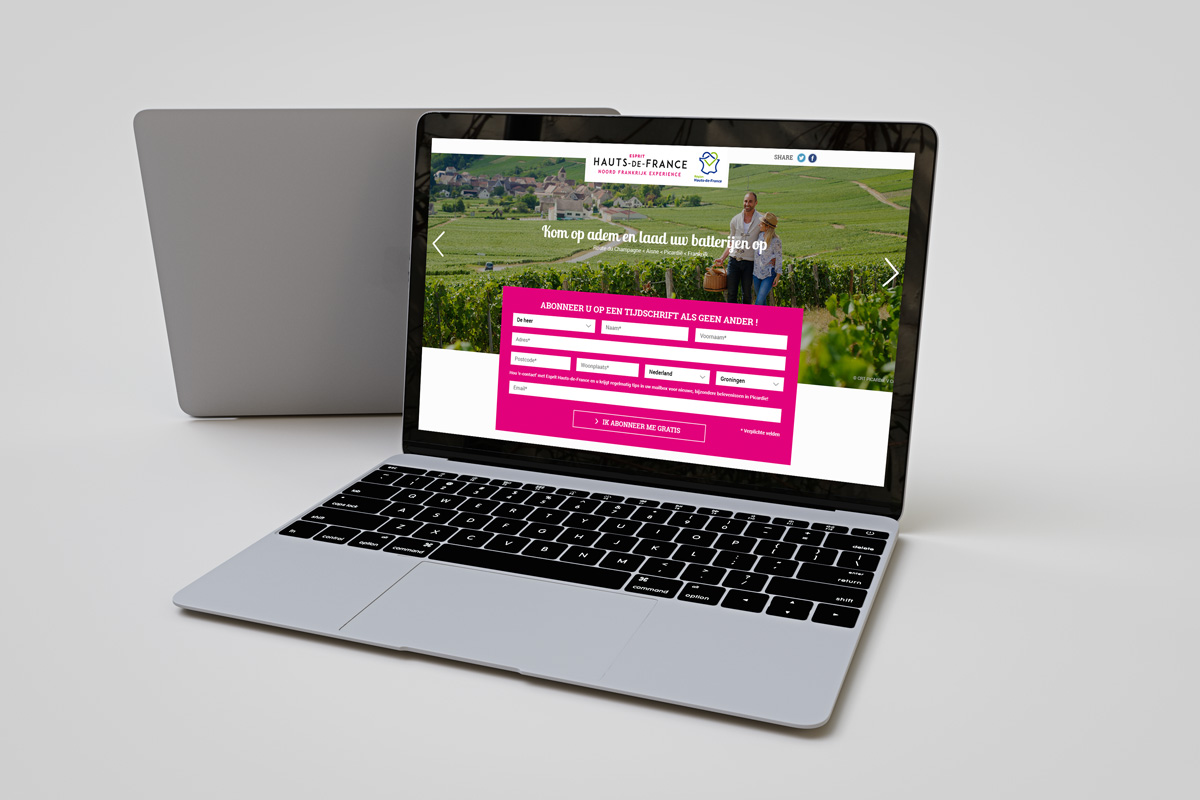 Création graphique Site internet noordfrankrijk-experience