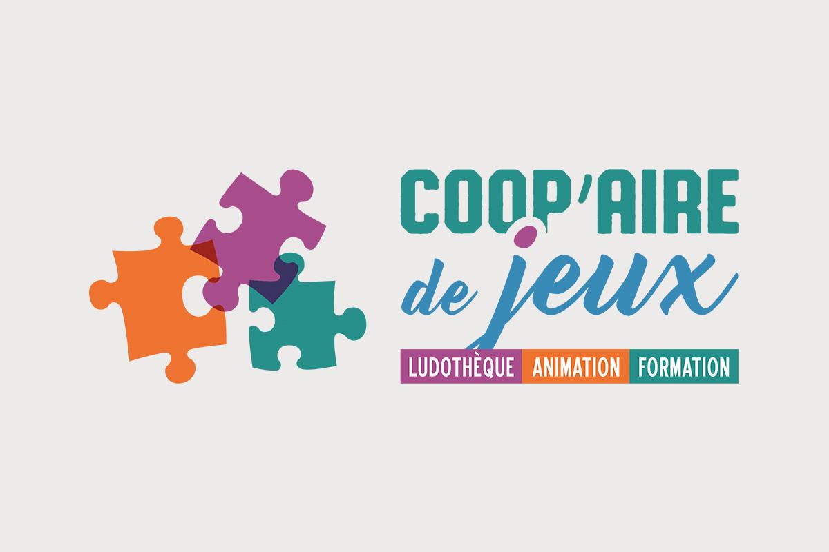 Création graphique logo Coopaire de jeux