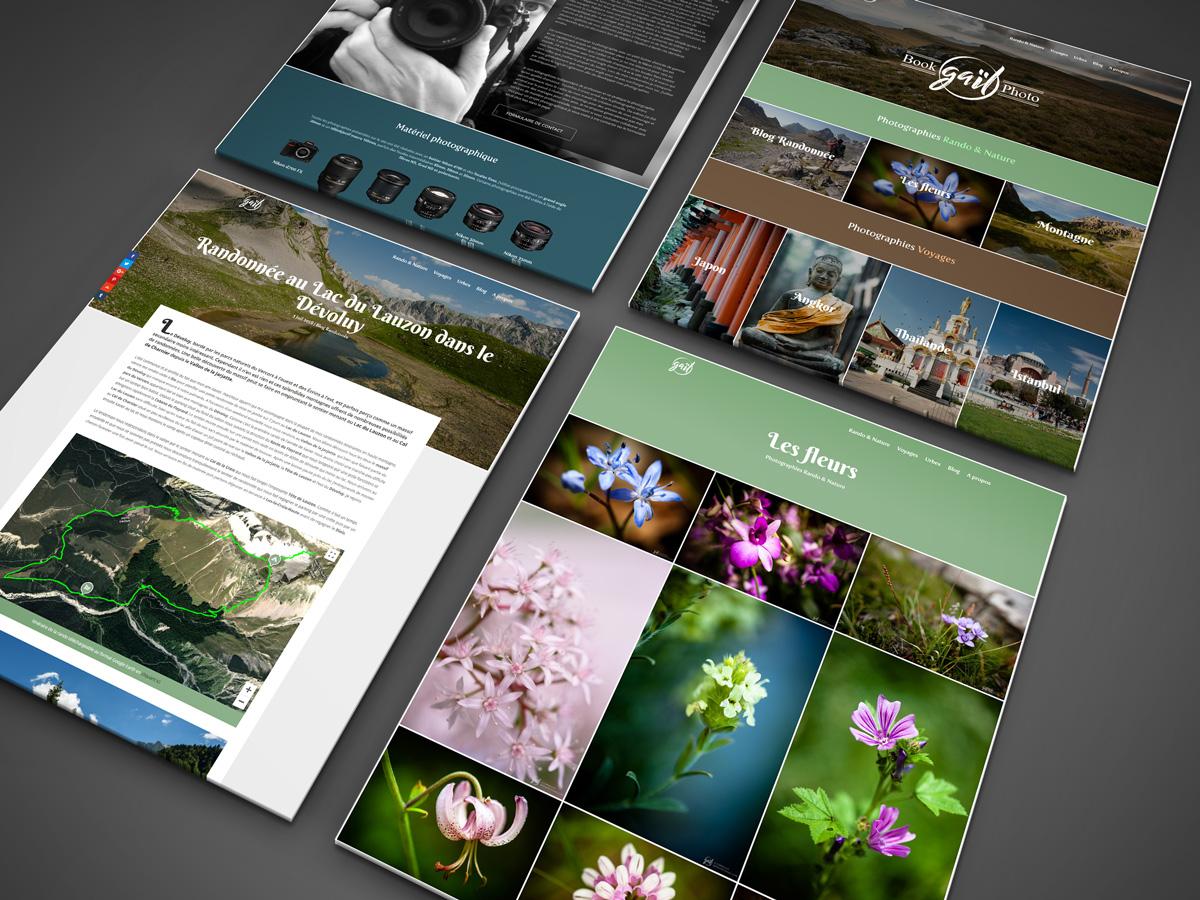 Création graphique Site internet portfolio photographe