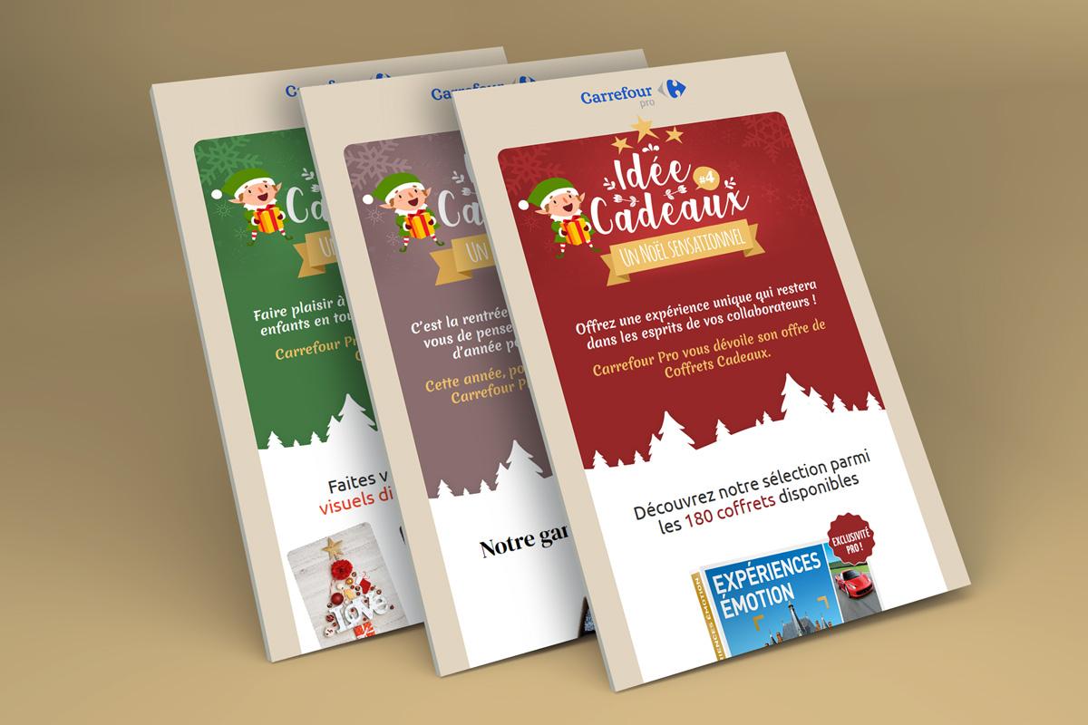 Création graphique emailings Carrefour Pro