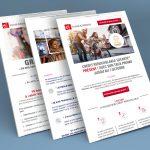 Création graphique emailings Banque Populaire et Caisse d'Epargne