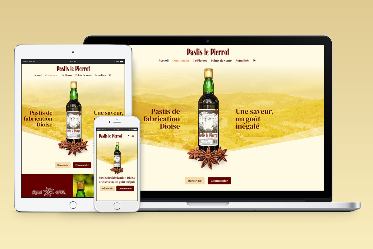 Création graphique Site internet ecommerce artisan bijoutier